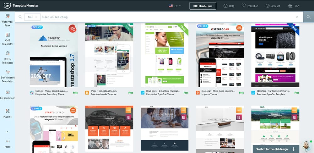free template from template monster - web design resource & tools